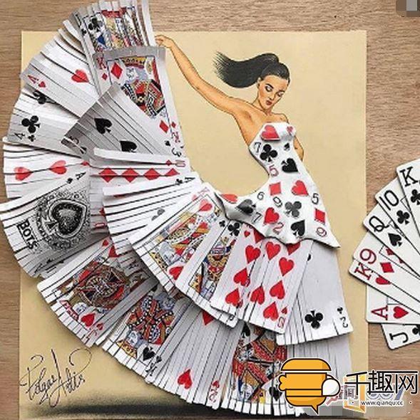 化腐朽为神奇创意设计,扑克牌回形针废报纸都能当裙子