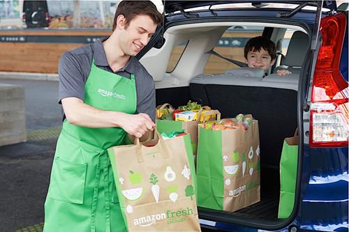 亚马逊推便利生鲜服务:买生鲜根本就不用下车