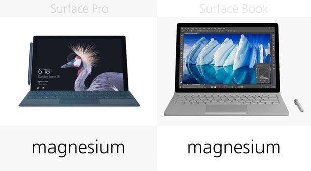 Surface Pro(2017)和Surface Book同门规格参数对比的照片 - 5