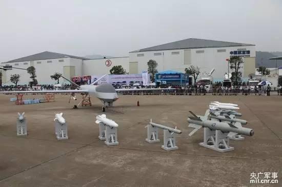 """△""""攻打1""""型无人机,这是我国自行研制出产的首型察打一体化的无人机体系。"""