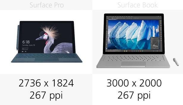 Surface Pro(2017)和Surface Book同门规格参数对比的照片 - 8
