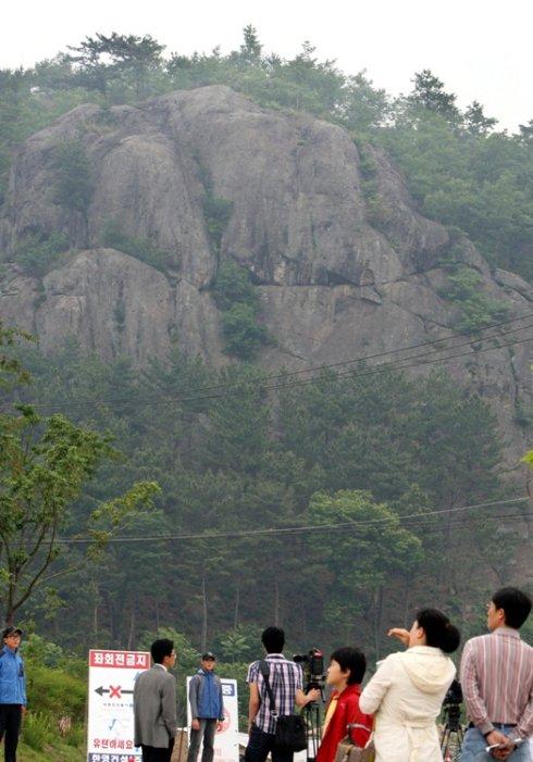 卢武铉曾跳崖自杀的猫头鹰岩