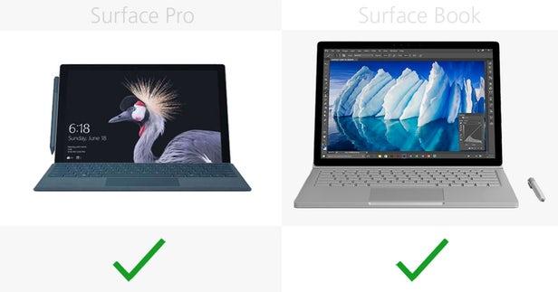 Surface Pro(2017)和Surface Book同门规格参数对比的照片 - 7