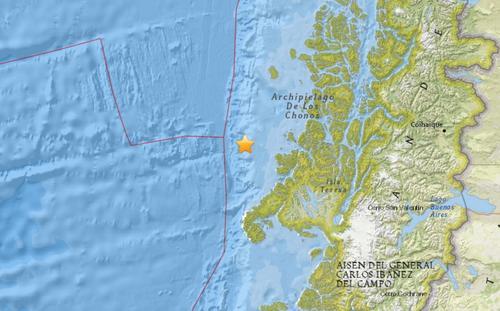 智利西部海域发生5.1级地震 震源深度10公里