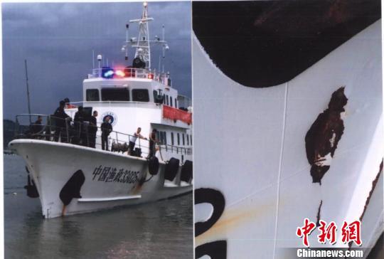 图为参与执法的船只。苍南法院供图