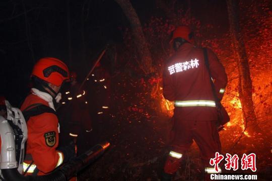 内蒙古年夜兴安岭林区产生的火警现场。 高翱翔 摄