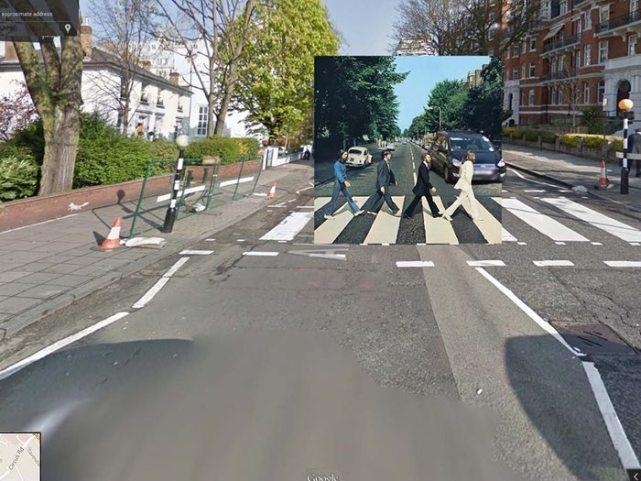 Beatles 走过的 Abbey Road。