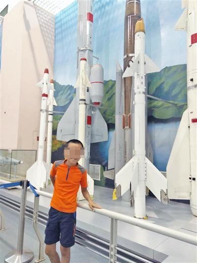 同同在中国航天博物馆(受访者供图)