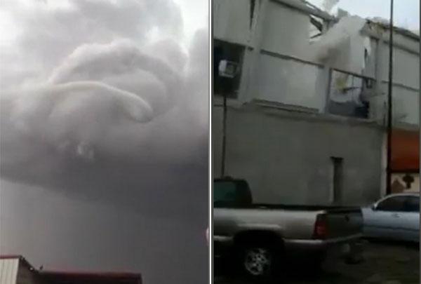 红色蛇形龙卷风袭击墨小镇 村民惊呼如世界末日