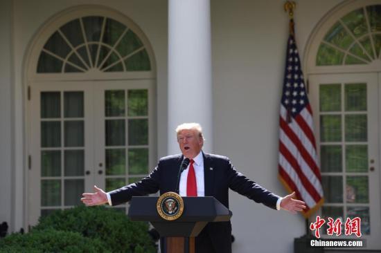 美国总统特朗普。中新社记者 刁大陆 摄