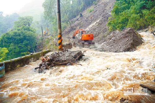 台湾暴雨致2死5伤2失踪 农业损失逾5700万台币