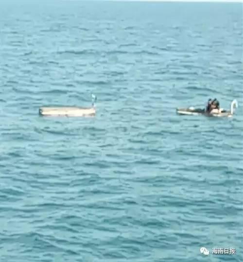 发现渔民。