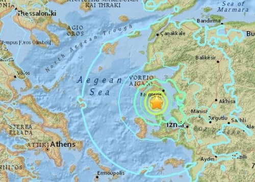 爱琴海地震希腊土耳其多地震感强烈 尚无人员伤亡消息