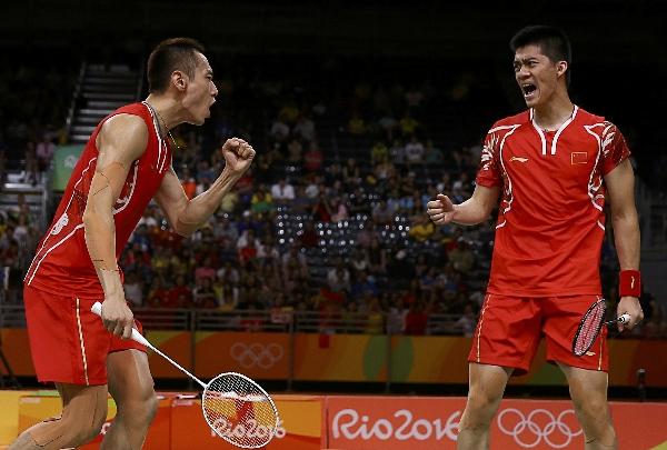 里约奥运会,张楠/傅海峰男双夺冠。图片来源:视觉中国