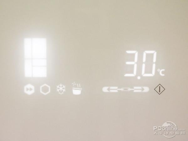 冰箱触控操作区示例