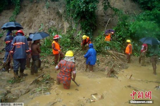 孟加拉国山体滑坡已致134人遇难 死亡人数或上升
