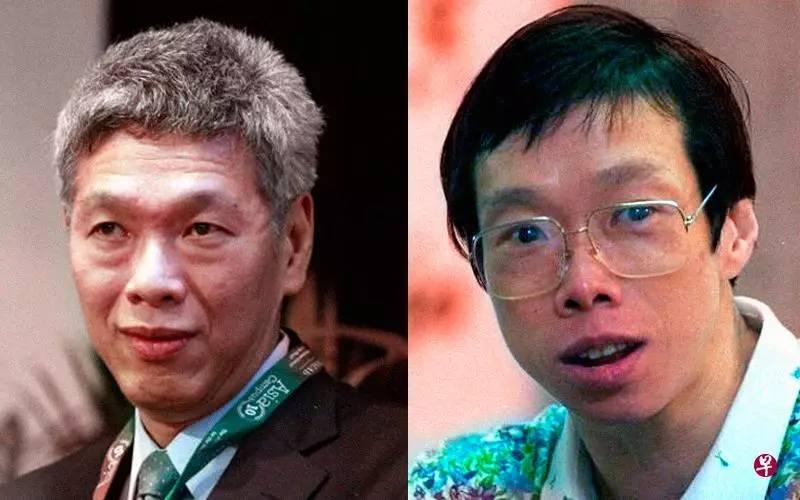 李光耀的儿子李显扬(左)和女儿李玮玲(右)