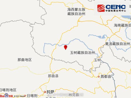 青海玉树治多县发生3.3级地震 震源深度10千米
