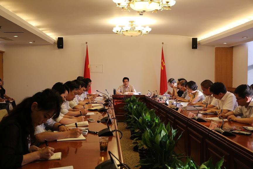 中国地震局党组听取第二轮巡视工作汇报