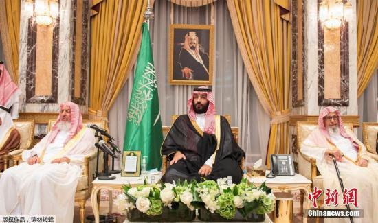 当地时间2017年6月21日,沙特阿拉伯麦加,新王储穆罕默德<span class=