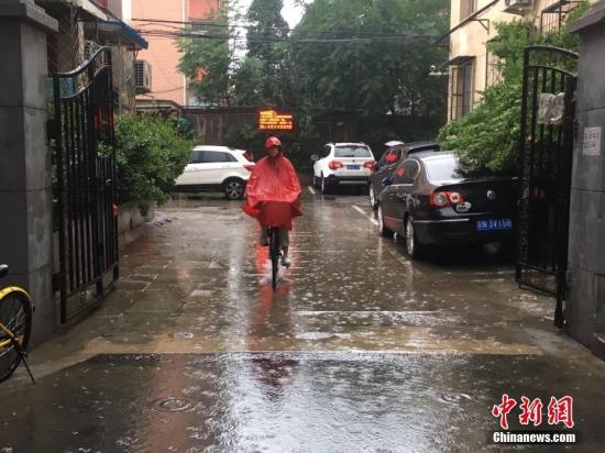 资料图:北京降雨。 中新网记者 富宇 摄