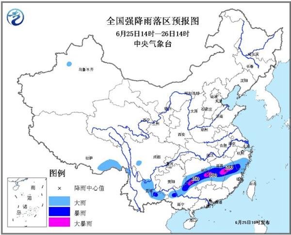 暴雨橙色预警:湖南江西等4省区局地有大暴雨