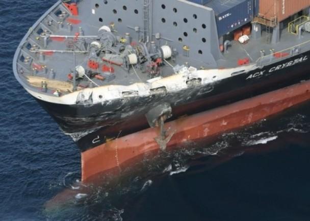 菲籍货船(图)船长称曾经发出灯号警示