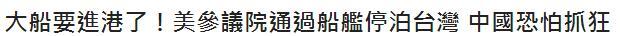 """台媒斥""""美军舰欲停靠台湾"""":经过我们同意了吗"""