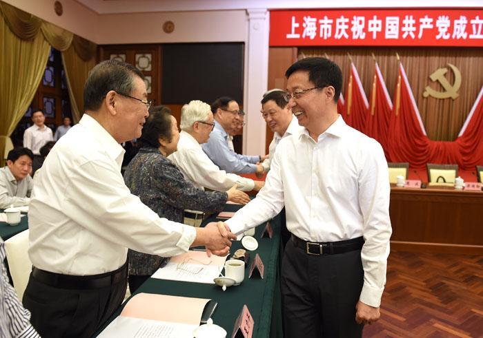 上海市庆祝中国共产党成立96周年座谈会上,韩正对加强党建提了哪些要求