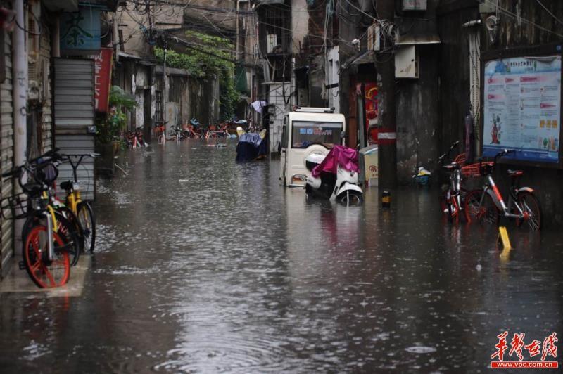 长沙全市今日平均降雨44毫米 出现大暴雨站点11个
