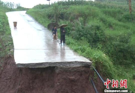 四川自贡降雨致80乡镇受灾 直接经济损失超亿元
