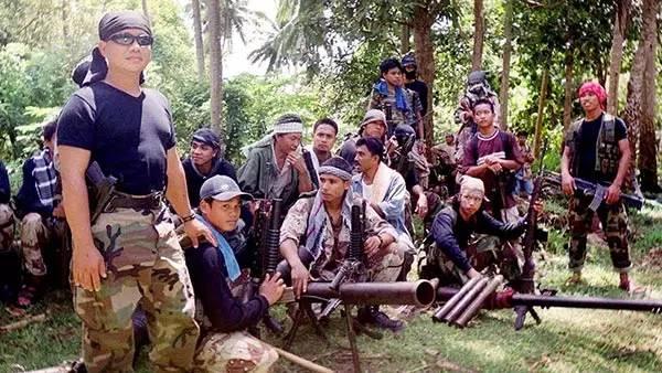 ▲占据在菲律宾南部的阿布沙耶夫武装(察看者网)