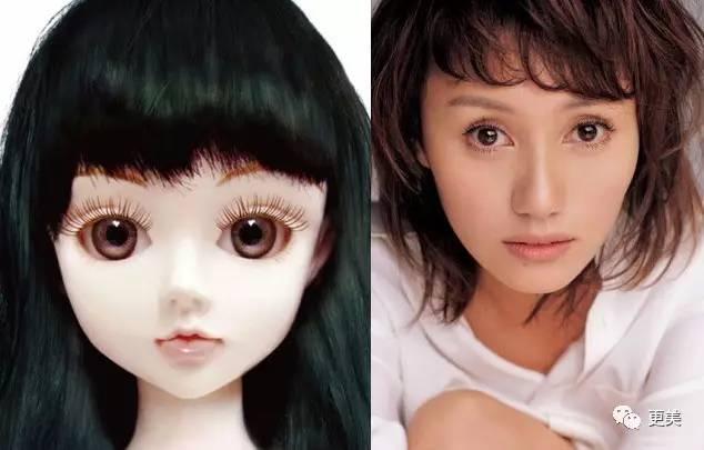 可爱的娃娃脸部