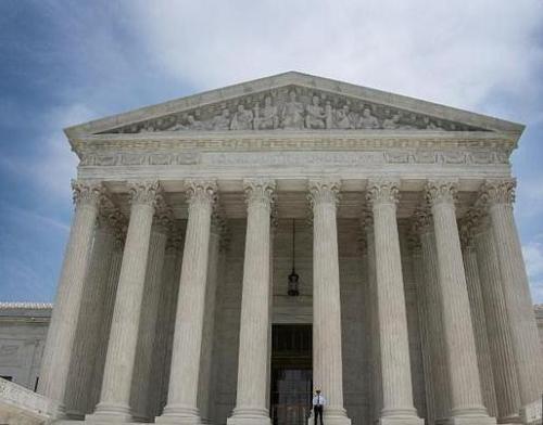 资料图片:美国最高法院。(图片来源:法新社)