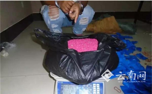 警方查获的7.1公斤毒品