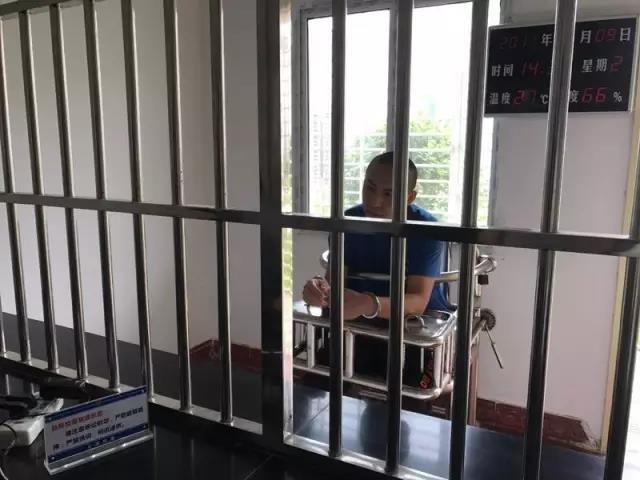 ▲犯罪嫌疑人杜其斌在看守所。