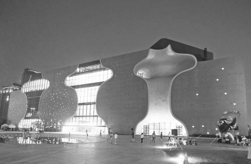 图片说明:台中歌剧院由日本建筑师伊东丰雄设计。