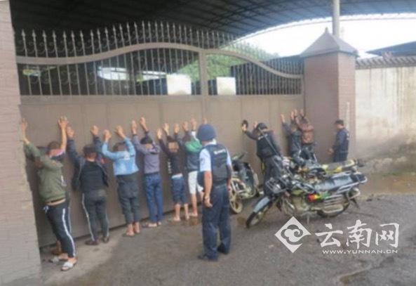 警方抓获的11名少年
