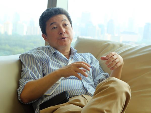 张首晟接受本网记者采访。赵永新摄