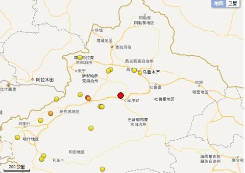 新疆巴音郭楞焉耆发生3.1级地震 震源深度8千米