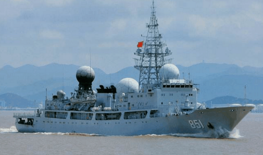 资料图:中国海军815型电子侦察船