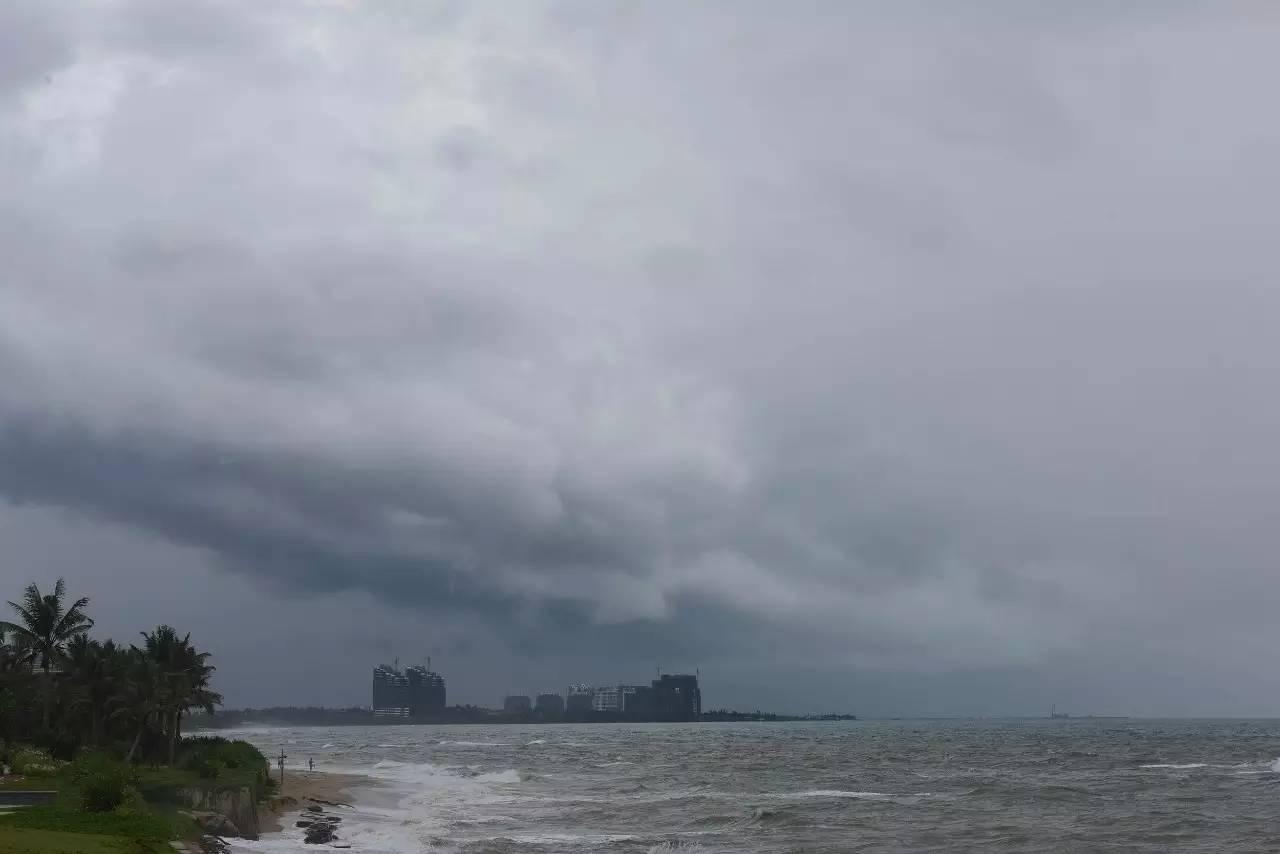 △往年第七号台风曾经直扑珠江口海疆