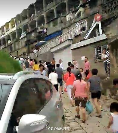 陕西榆林强暴雨 绥德县全城开始撤离