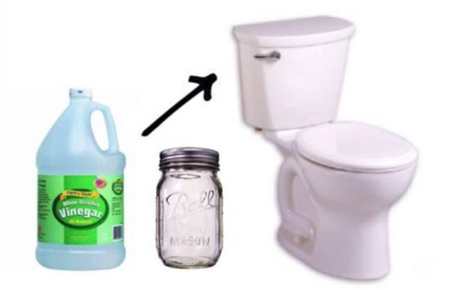 根据马桶水箱的容量选择合适的矿泉水瓶; 2.也可以用白醋代替醋精.
