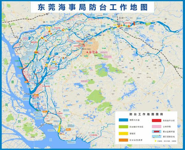 """东莞""""量身定做""""的首张防台风地图出炉"""