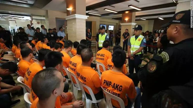 ▲7月20日,菲律宾警局公开会现场 图据网络