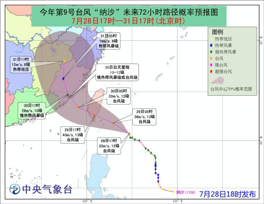 """【天气】台风""""纳沙""""下周送雨送清凉!周二最高温仅32度"""