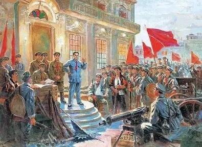 ▲反映南昌起义的油画。