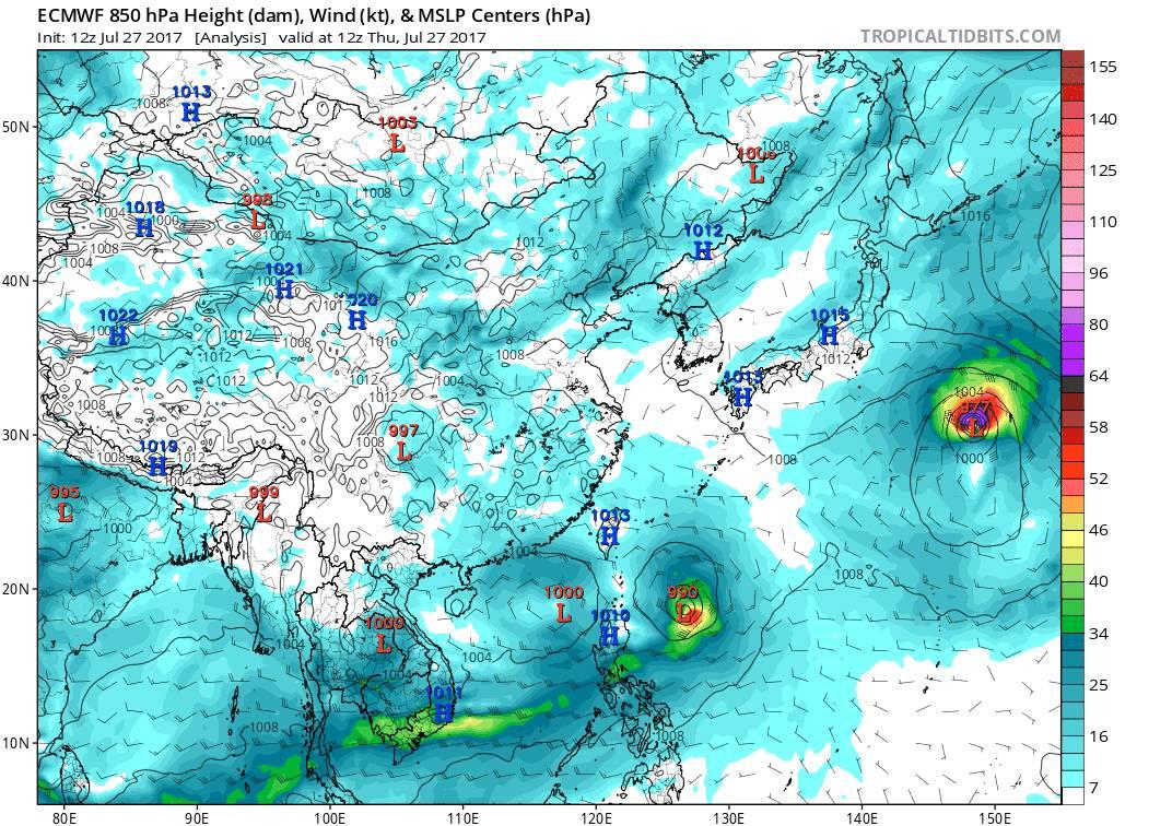 CP台风手牵手向福建走,下午起,福州风雨天气明显,谨防旱涝急转
