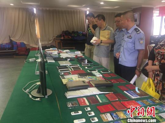 广州警方1月举办消息宣布会先容相干案情。 蔡馥瑜 摄